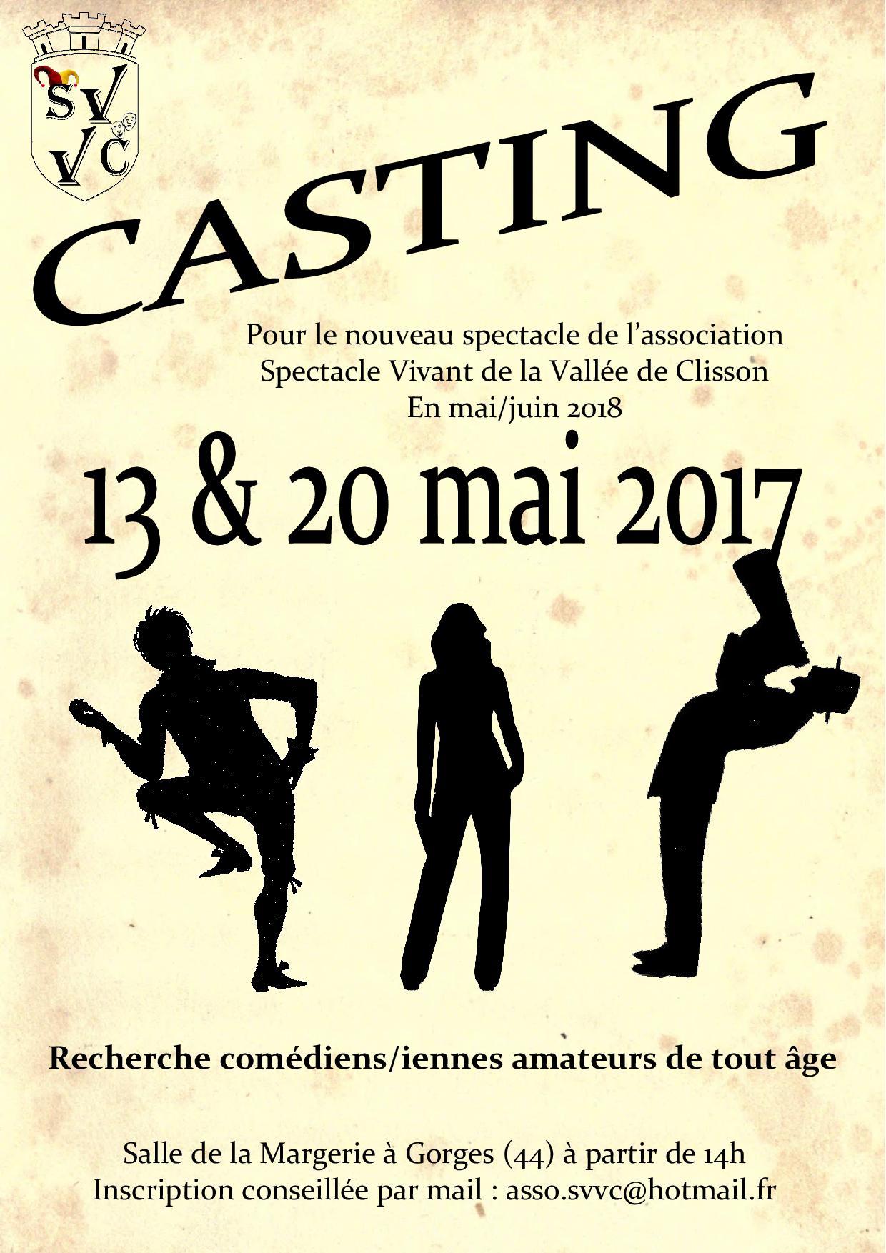 Affiche Casting SVVC